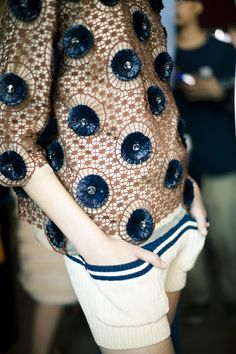 Jamie Beck at Tory Burch~ indigo hints~