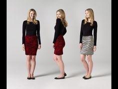 How to Make a Draped Skirt | Teach Me Fashion  #teachmefashion