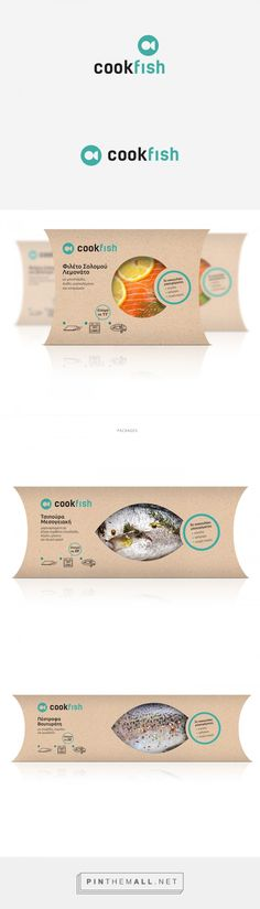 Cookfish cooked fish by Elia Tsamantaki. Source: Behance. Pin curated by #SFields99 #packaging #design #structural