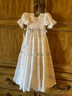 Crochet Christening Patterns, Baby Dress Patterns, Crochet Patterns, Blessing Dress, Baptism Gown, Thread Crochet, Flower Girl Dresses, Baby Dresses, Crochet Baby