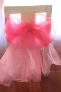 Have extra tulle after you've made your little one's tutu? Use it to decorate the chairs! #BallerinaParty