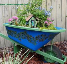 Whimsical Broken Wheelbarrow Fairy Garden Indoor Garden, Outdoor Gardens, Garden Planters, Amazing Gardens, Beautiful Gardens, Garden Front Of House, Crochet Mushroom, Garden Labels, Diy Trellis