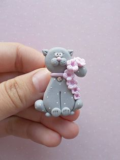 Cat pin created from polymer clay without using molds or forms. A cute gift idea for cat lovers of for kids. The pin is not heavy and is suitable for kids. The lenght of it is 4.8 cm. ❀ Price is for one brooch. ❀ I ship the orders very quickly, in 1 to 3 days after I receive your order. I #catloversgiftskids