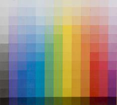 Johannes Itten | 12 degrés gris - 12 couleurs cercle chromatique dans les valeurs de clarté du gris correspondant