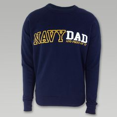 Proud Navy Dad Crewneck  | ArmedForcesGear.com #navygifts