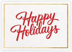 Signature Holiday - Gold - Paperless Post