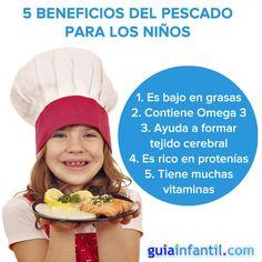 El pescado tiene muchos beneficios para el desarrollo mental y físico de los niños: http://www.guiainfantil.com/articulos/alimentacion/dietas/pescado-en-la-dieta-de-embarazadas-y-ninos/