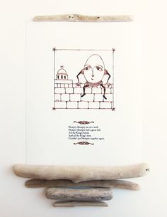 Mother Goose Nursery Decor  Humpty Dumpty by pictureatale on Etsy, $11.99