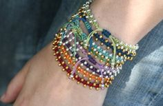 fun and easy bracelet.....we're calling it Bollywood! watch the new video just released! happy beading :-))