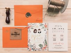 Illustrations Okinawa wedding ceremony invitation