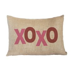 XOXO Valentine Kidney Pillows by digitalcoutureshop on Etsy #burlap #pillow #valentinesday
