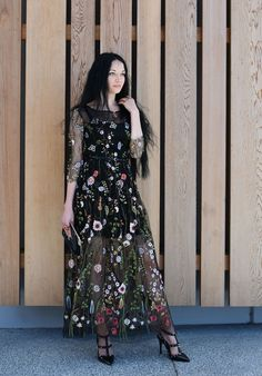 Bohemian Sheer Embroidered Dress