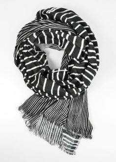 society for scarves art stripe scarf