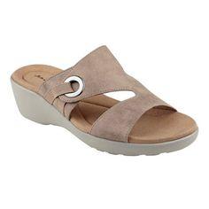 20d366f81 Easy Spirit Kaitrin Wedge Sandal 7 W Black Comfortable Sandals