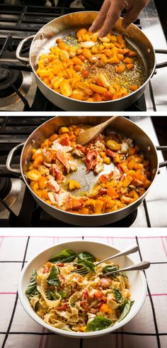 Recipe: Lobster pasta with yellow tomatoes and basil || Photo: Fred R. Conrad/The New York Times