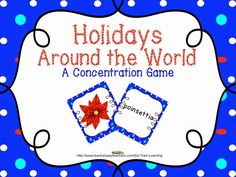 This holiday game by SOL Train Learning is a great way for your kiddos to practice December words. They will match each vocabulary word with its corresponding picture. The vocabulary is based on our December ELA calendar, along with a number of other December vocabulary activities. $ Included -62 cards -Teacher Guide. Read more on our blog!  #Christmas#Vocabulary