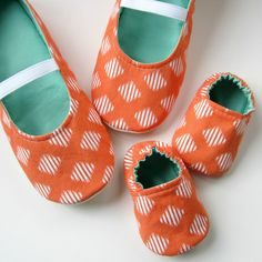 Mom and Baby Slipper Set Molipop Slippers in Orange by Molipop