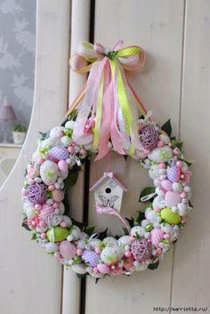 La decoración de Pascua Spring Crafts, Holiday Crafts, Diy Y Manualidades, Easter Egg Designs, Easter Holidays, Easter Party, Easter Wreaths, Diy Wreath, Easter Crafts