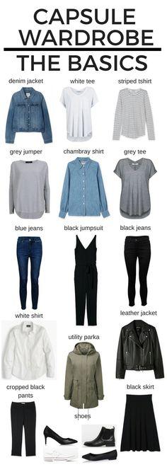 06793c8af Capsule Wardrobe - the Basics - GlowtoGirl Capsule Wardrobe 2018, Wardrobe  Basics, Capsule Outfits
