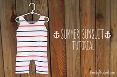 DIY Summer Sunsuit from a T-shirt