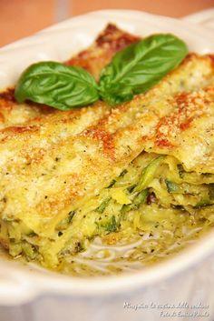 Lasagna al pesto con zucchine. ...sapori d'estate.