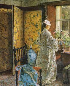 "1875 ""Spring"" by John Atkinson Grimshaw, Detail"