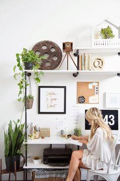 30 ideias incríveis de decoração de home office para quem procura por inspirações para o escritório dos sonhos dentro de casa!