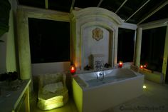 #loirevalley  #night  #bath  #romantic  #decoration  #design  #holidays  #Frenchromantism  #candles  #forest http://www.chateauchambiers.com/