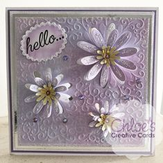 Shop here at Chloes Creative Cards for excellent value Cut and Emboss by Chloe Folder & Dies Blooming Daisies at just You will also find a selection of other wonderful here too. Card Making Inspiration, Making Ideas, Chloes Creative Cards, Stamps By Chloe, Daisy Petals, Crafters Companion Cards, Card Tutorials, Diy Cards, Homemade Cards