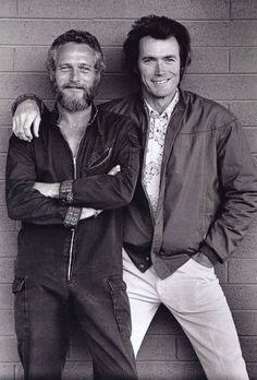 Paul Newman e Clint Eastwood, 1972