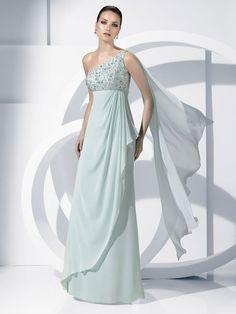 Pronovias vestidos de fiesta 2012: quiero ir en color pastel