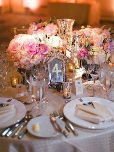 Photo: Jeremy Chou Photography; Wedding reception centerpiece idea;