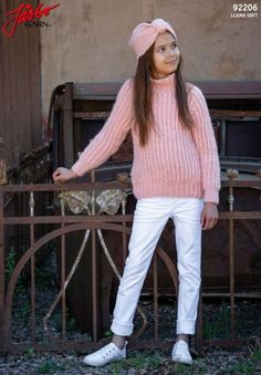 Kid's sweater in our brand new, super soft Llama Soft. Cardigans, Sweaters, Llamas, White Jeans, Winter Hats, Turtle Neck, Brand New, Shorts, Knitting