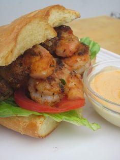 Grilled Shrimp Po Boys Recipe here