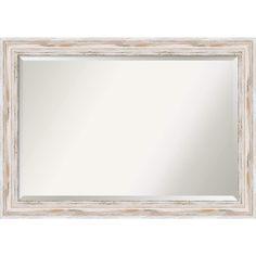'Alexandria Whitewash Extra Large 41 x 29-inch Wall Mirror