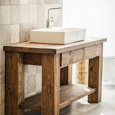 Szafka pod umywalkę ze starego drewna - model TS2