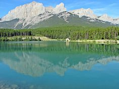 #hiking East End of Rundle past Rundle Canal above Canmore, Alberta, Canada