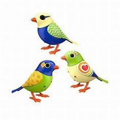 Digi Birds Twinkles Trio Set of 3 DigiBirds Sings Solo & In A Choir