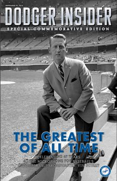 The Dodgers will be giving out a special commemorative edition of Dodger Insider magazine celebrating the life and career of Vin Scully to the first 50,000 fans in attendance on Sunday, September 25th on Fan Appreciation Day.