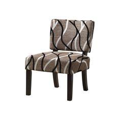 Accent Chair - Grey swirls