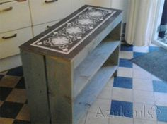 Cement Tiles Furniture - Gris 01 Border + Corner - Project van Designtegels.nl