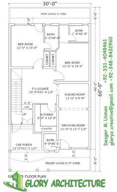 Modern House Designs 30 X 60 House Plan Elevation View Drawings Pakistan House 5 Marla House Plan, 2bhk House Plan, 3d House Plans, Indian House Plans, Simple House Plans, Model House Plan, House Layout Plans, Duplex House Plans, Best House Plans