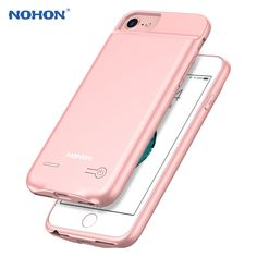 570625ea46a75d NEW NOHON Backup External Battery Case For iPhone 7 6S 6 Portable Battery Mobile  Phone Charger