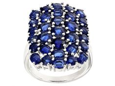 6.55ctw Oval And Round Nepalese Kyanite Sterling Silver Ring