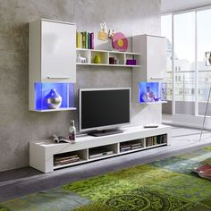 Miranda Living Room Furniture Set In White With High Gloss Fronts. The  White High