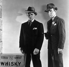 Two of the great gangsters -- James Cagney and Humphrey Bogart!