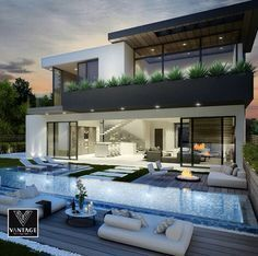 Dream house ~ luxury house, dream house, magnificent villa, wealth and sheer elegance - Traumhaus - Architecture Future House, Design Exterior, House Goals, Modern House Design, Home Fashion, My Dream Home, Luxury Homes, Luxury Apartments, Beautiful Homes