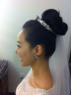 Up do hair style for wedding.