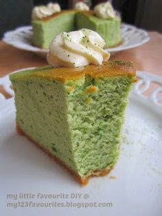 my little favourite DIY: Green Tea Souffle Cheesecake ~ 绿茶舒芙雷乳酪蛋糕