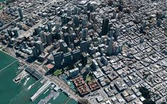 A three-dimensional view of San Francisco is seen on Google Earth. Google's digital mapping service is preparing to introduce offline access on mobile devices and more three-dimensional images of major cities as it braces for a possible loss in traffic from Apple's iPhone and iPad, ahead of an Apple developer conference next week.